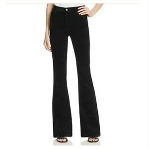 J Brand High Rise Velvet Maria Flare Jean 26 33.5L